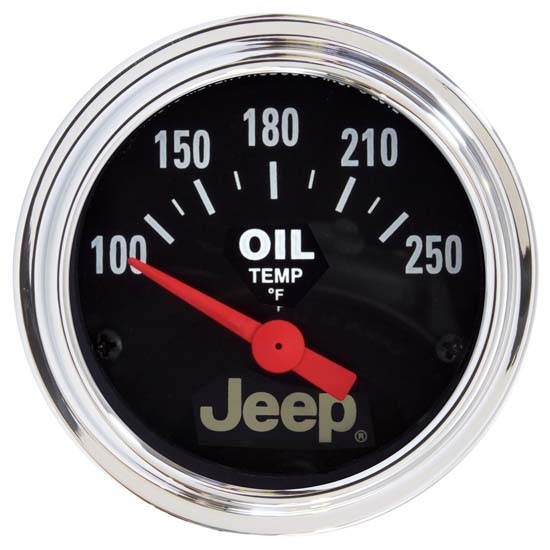 Auto Meter 880429 Jeep Air-Core Oil Temperature Gauge, 2-1/16 Inch