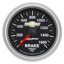 Auto Meter 880450 GM COPO Camaro Brake Pressure Gauge, 2-5/8 Inch