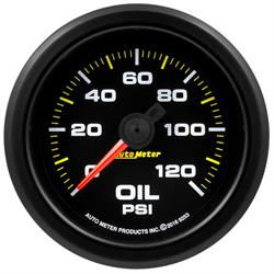 AutoMeter 9253 Extreme Oil Press. Gauge, 2-1/16, 0-120 PSI,Flat