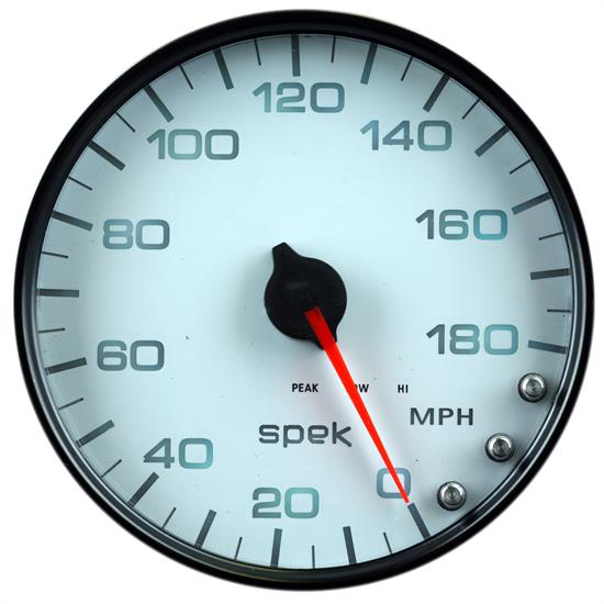 Auto Meter P23012 Spek-Pro Speedometer, 5, 0-180 MPH, Domed Lens