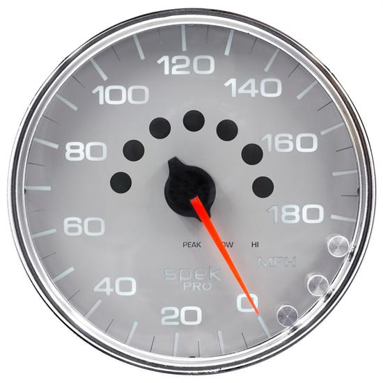 Auto Meter P23021 Spek-Pro Speedometer, 5, 0-180 MPH, Domed Lens