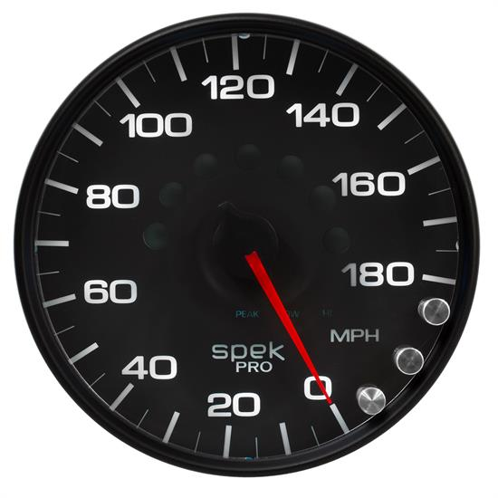 Auto Meter P23032 Spek-Pro Speedometer, 5, 0-180 MPH, Domed Lens