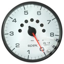 Auto Meter P23812 Spek-Pro Tachometer, 5, 0-8,000 RPM, Domed Lens