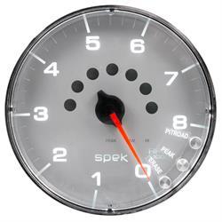 Auto Meter P238218 Spek-Pro Tachometer, 5, 0-8,000 RPM, Flat Lens