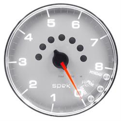 Auto Meter P23821 Spek-Pro Tachometer, 5, 0-8,000 RPM, Domed Lens