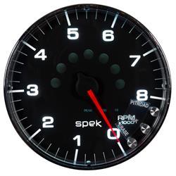 Auto Meter P238318 Spek-Pro Tachometer, 5, 0-8,000 RPM, Flat Lens