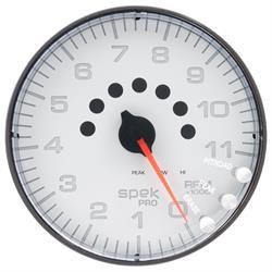 Auto Meter P239128 Spek-Pro Tachometer, 5, 0-11,000 RPM, Flat Lens