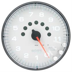 Auto Meter P23912 Spek-Pro Tachometer, 5, 0-11,000 RPM, Domed Lens