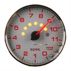 Auto Meter P23921 Spek-Pro Tachometer, 5, 0-11,000 RPM, Domed Lens