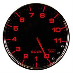 Auto Meter P23931 Spek-Pro Tachometer, 5, 0-11,000 RPM, Domed Lens