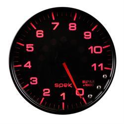 Auto Meter P23932 Spek-Pro Tachometer, 5, 0-11,000 RPM, Domed Lens