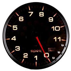 Auto Meter P23952 Spek-Pro Tachometer, 5, 0-11,000 RPM, Domed Lens