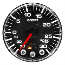 Auto Meter P302318 Spek-Pro Boost/Vacuum Gauge, 2-1/16, 35 PSI, Flat