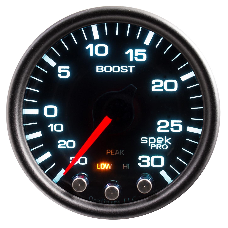 Hg//30 PSI Mechanical Vacuum//Boost Gauge Auto Meter 3603 Sport-Comp II 2-1//16 30 in