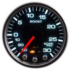 Auto Meter P30252 Spek-Pro Boost/Vacuum Gauge, 2-1/16, 37 PSI, Domed
