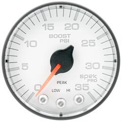 Auto Meter P303128 Spek-Pro Boost Gauge, 2-1/16, 0-35 PSI, Flat Lens