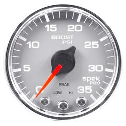 Auto Meter P30321 Spek-Pro Boost Gauge, 2-1/16, 0-35 PSI, Domed Lens