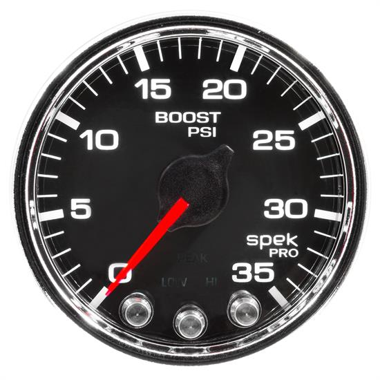 Auto Meter P30331 Spek-Pro Boost Gauge, 2-1/16, 0-35 PSI, Domed Lens