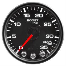 Auto Meter P30332 Spek-Pro Boost Gauge, 2-1/16, 0-35 PSI, Domed Lens