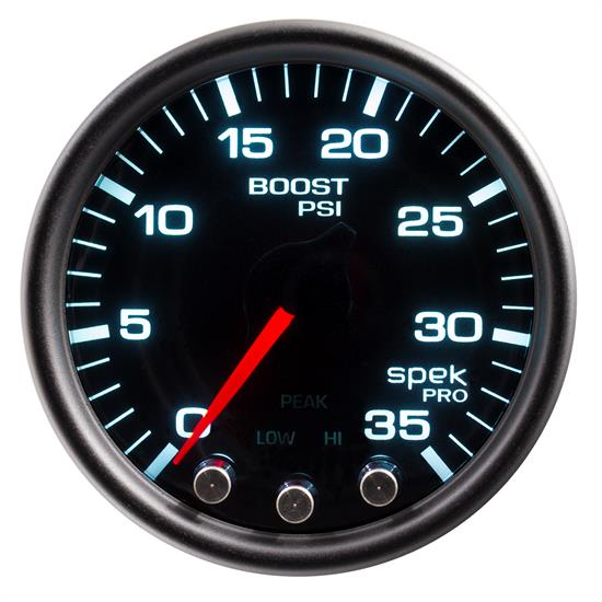 Auto Meter P30352 Spek-Pro Boost Gauge, 2-1/16, 0-35 PSI, Domed Lens