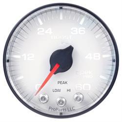 Auto Meter P304128 Spek-Pro Boost Gauge, 2-1/16, 0-60 PSI, Flat Lens