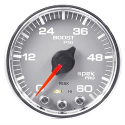Auto Meter P30421 Spek-Pro Boost Gauge, 2-1/16, 0-60 PSI, Domed Lens