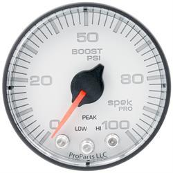 Auto Meter P305128 Spek-Pro Boost Gauge, 2-1/16, 0-100 PSI, Flat Lens