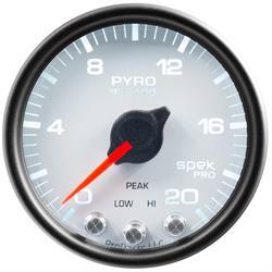 Auto Meter P31012 Spek-Pro Boost/Pyro Gauge, 2-1/16, 0-2000 Deg., Domed