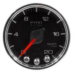 AutoMeter P31031 Spek-Pro Boost/Pyro Gauge,2-1/16,0-2000,Domed
