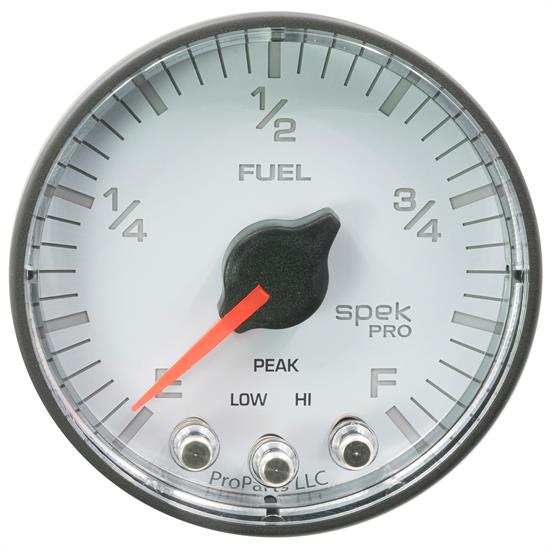 Auto Meter P312128 Spek-Pro Fuel Level Gauge, 2-1/16, 0-300 Ohm, Flat