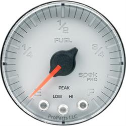 AutoMeter P312218 Spek-Pro Fuel Level Gauge,2-1/16,0-300 Ohm,Flat
