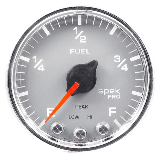 Auto Meter P31221 Spek-Pro Fuel Level Gauge, 2-1/16, 0-300 Ohm, Domed