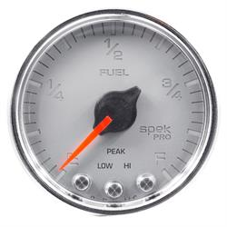 AutoMeter P31221 Spek-Pro Fuel Level Gauge,2-1/16,0-300 Ohm,Domed