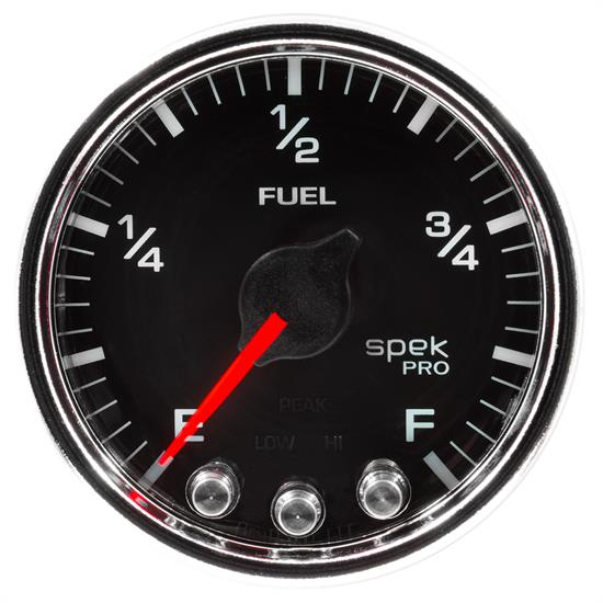 Auto Meter P31231 Spek-Pro Fuel Level Gauge, 2-1/16, 0-300 Ohm, Domed
