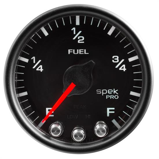 Auto Meter P31232 Spek-Pro Fuel Level Gauge, 2-1/16, 0-300 Ohm, Domed