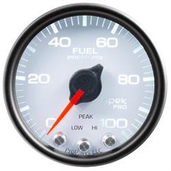 Auto Meter P31412 Spek-Pro Fuel Pressure Gauge, 2-1/16, 0-100 PSI, Domed