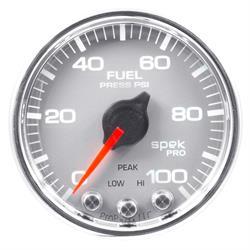 Auto Meter P31421 Spek-Pro Fuel Pressure Gauge, 2-1/16, 0-100 PSI, Domed