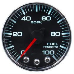 Auto Meter P314318 Spek-Pro Fuel Pressure Gauge, 2-1/16, 0-100 PSI, Flat