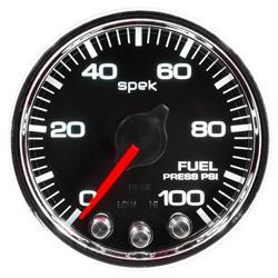 Auto Meter P31431 Spek-Pro Fuel Pressure Gauge, 2-1/16, 0-100 PSI, Domed