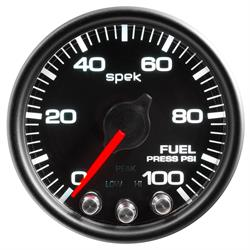 Auto Meter P31432 Spek-Pro Fuel Pressure Gauge, 2-1/16, 0-100 PSI, Domed