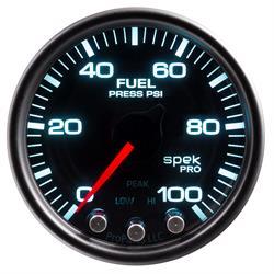 Auto Meter P31452 Spek-Pro Fuel Pressure Gauge, 2-1/16, 0-100 PSI, Domed