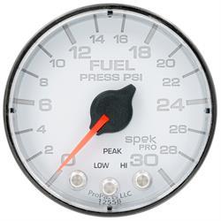 Auto Meter P316128 Spek-Pro Fuel Pressure Gauge, 2-1/16, 0-30 PSI, Flat