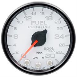 Auto Meter P31612 Spek-Pro Fuel Pressure Gauge, 2-1/16, 0-30 PSI, Domed