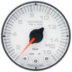 Auto Meter P320128 Spek-Pro Nitrous Gauge, 2-1/16, 0-1600 PSI, Flat