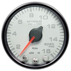 Auto Meter P32012 Spek-Pro Nitrous Gauge, 2-1/16, 0-1600 PSI, Domed