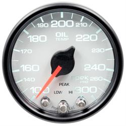 Auto Meter P32212 Spek-Pro Oil Temp Gauge, 2-1/16, 100-300 Deg., Domed