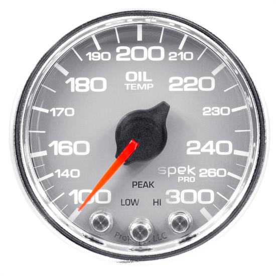 Auto Meter P32221 Spek-Pro Oil Temp Gauge, 2-1/16, 100-300 Deg., Domed