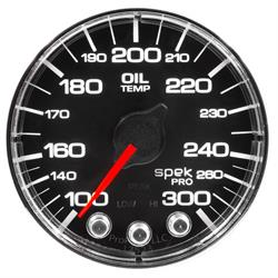 Auto Meter P322318 Spek-Pro Oil Temp Gauge, 2-1/16, 100-300 Deg., Flat