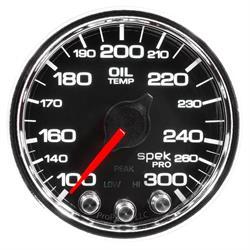 Auto Meter P32231 Spek-Pro Oil Temp Gauge, 2-1/16, 100-300 Deg., Domed