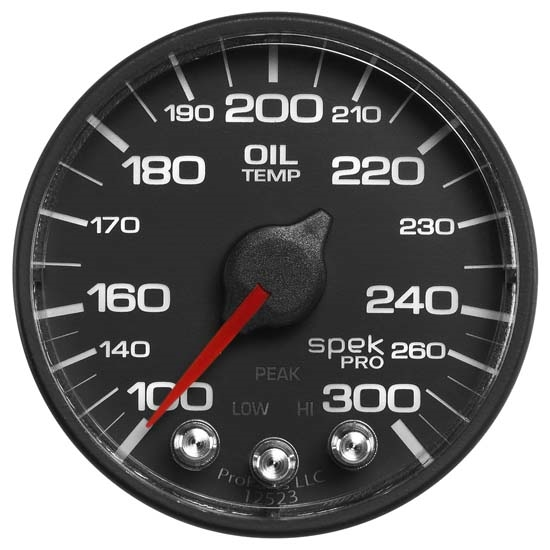 Auto Meter P322328 Spek-Pro Digital Stepper Motor Oil Temp Gauge